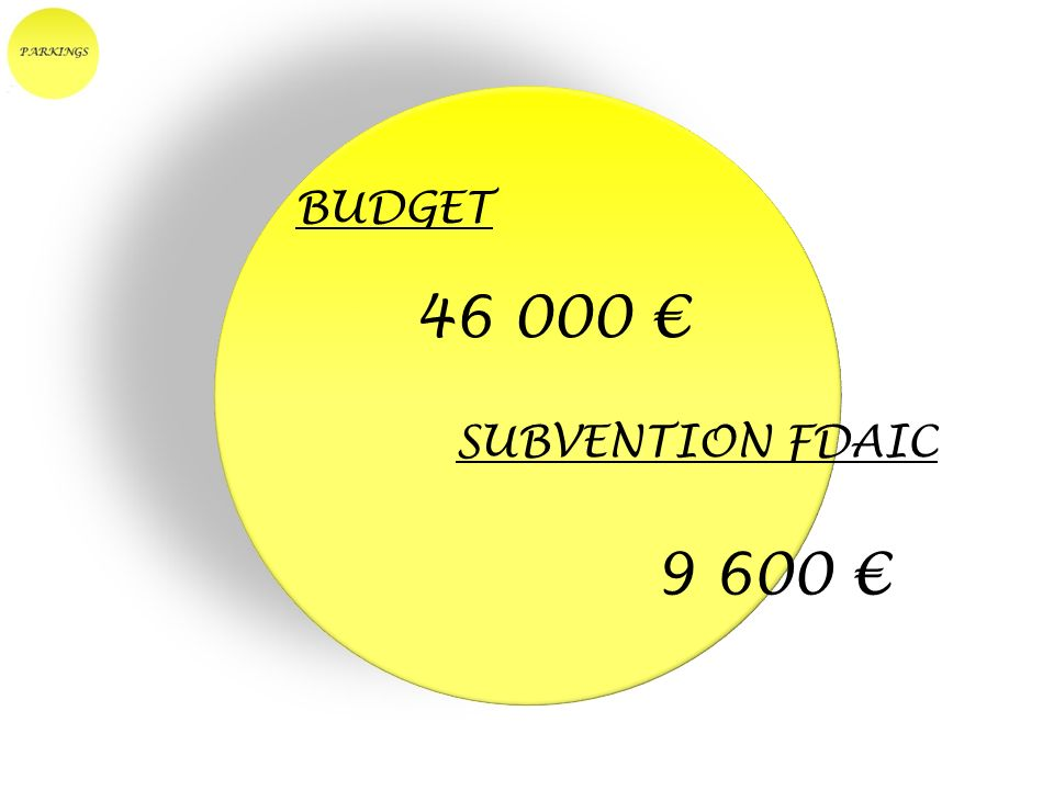 BUDGET 46 000 SUBVENTION FDAIC 9 600