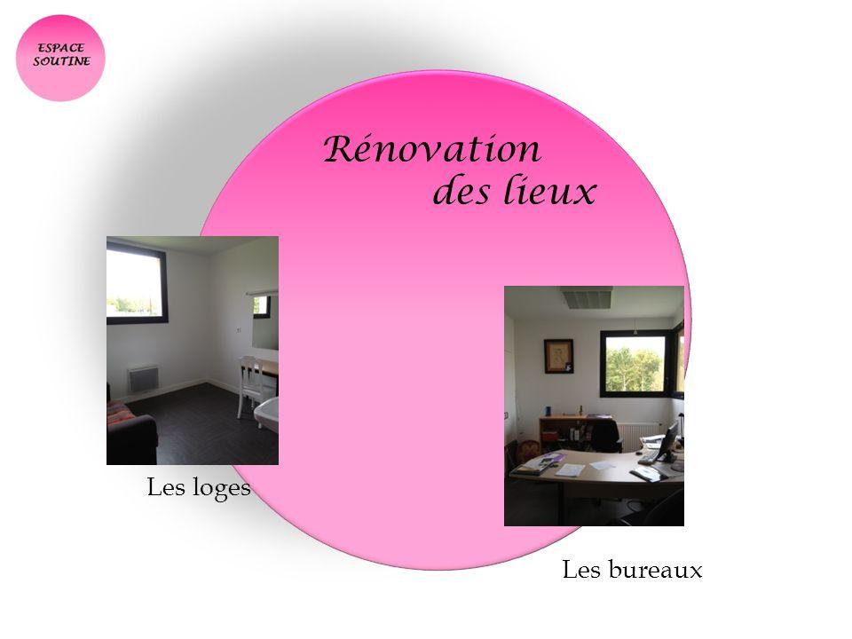 Rénovation des lieux Les loges Les bureaux