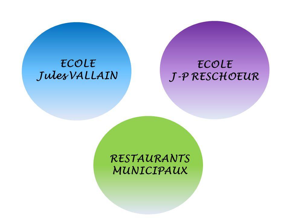 ECOLE Jules VALLAIN ECOLE J-P RESCHOEUR RESTAURANTS MUNICIPAUX