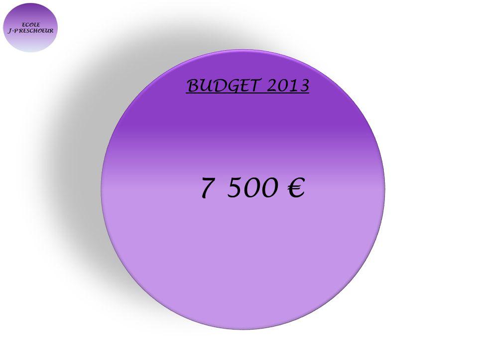 BUDGET 2013 7 500