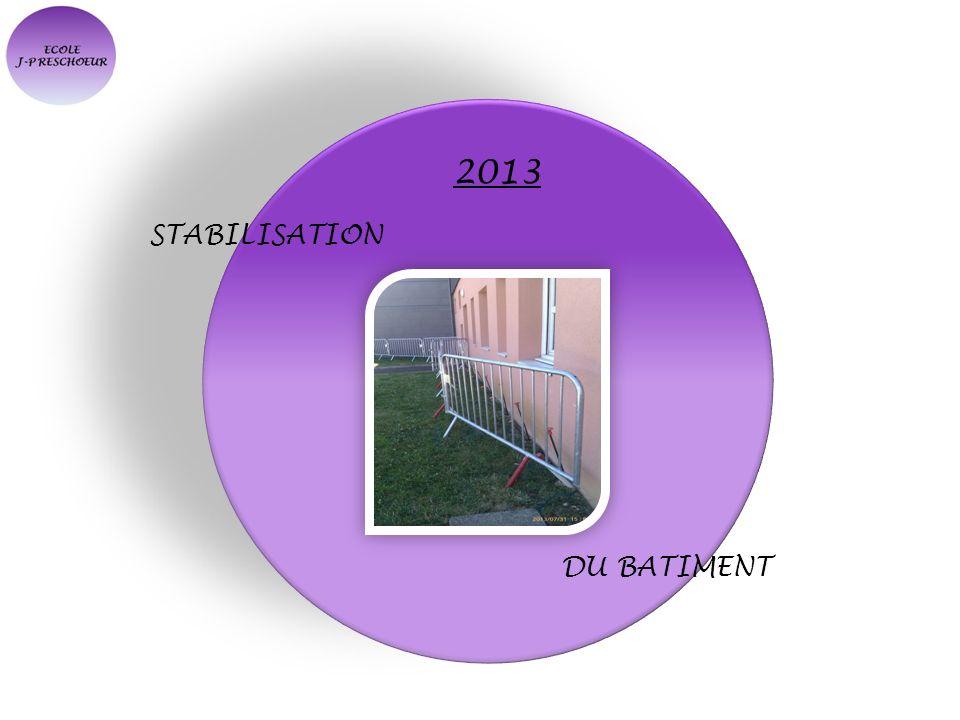 2013 STABILISATION DU BATIMENT