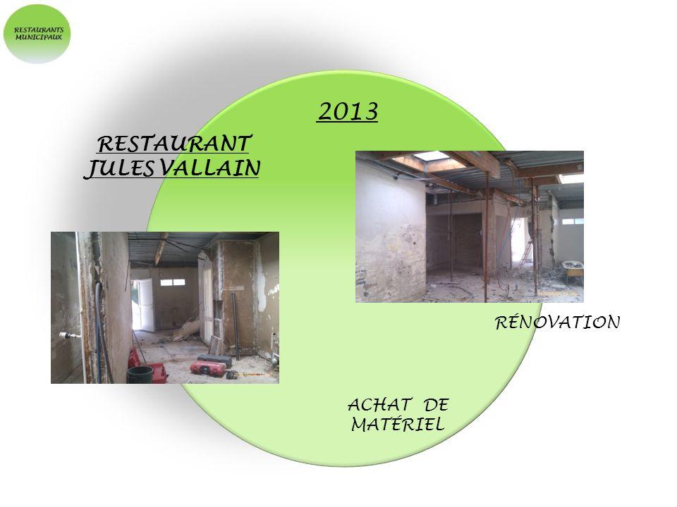 2013 RESTAURANT JULES VALLAIN RÉNOVATION ACHAT DE MATÉRIEL