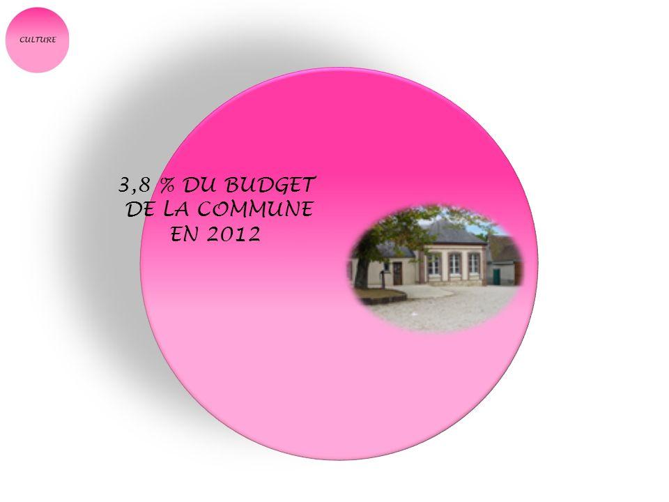 3,8 % DU BUDGET DE LA COMMUNE EN 2012