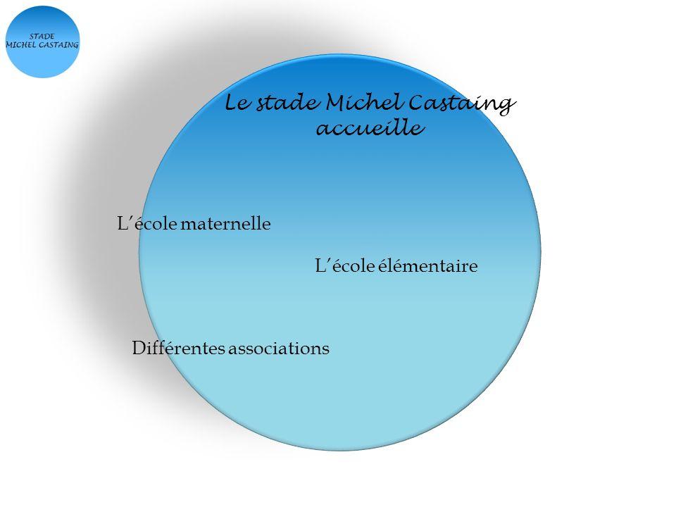 Le stade Michel Castaing accueille Lécole maternelle Lécole élémentaire Différentes associations