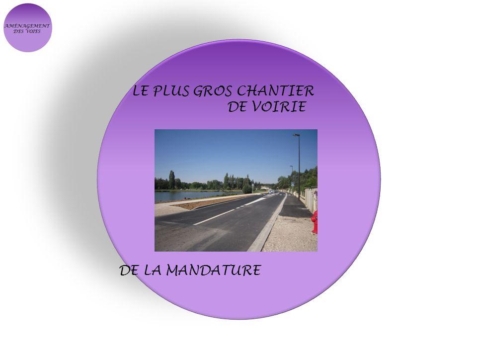 LE PLUS GROS CHANTIER DE VOIRIE DE LA MANDATURE