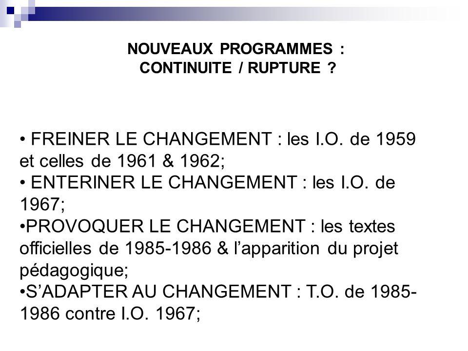 FREINERSADAPTERENTERINERPROVOQUER PROGRAMMES & CHANGEMENTS (LAMOTTE & NERIN, 2003)