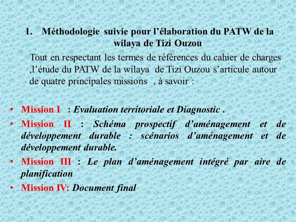 Mission I : Evaluation territoriale et Diagnostic.