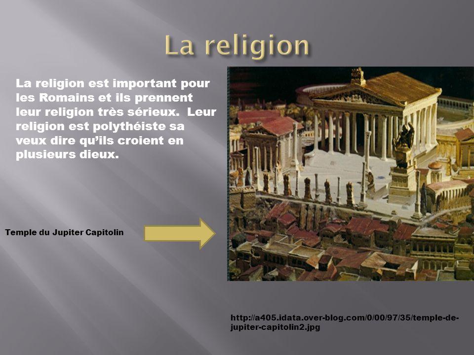 http://a405.idata.over-blog.com/0/00/97/35/temple-de- jupiter-capitolin2.jpg La religion est important pour les Romains et ils prennent leur religion