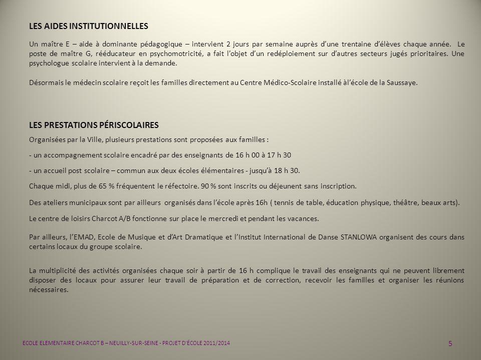 16 ECOLE ELEMENTAIRE CHARCOT B – NEUILLY-SUR-SEINE - PROJET D ÉCOLE 2011/2014 PRIORITÉS : 4 HARMONISER LES PRATIQUES UTILISATION QUOTIDIENNE DE LINFORMATIQUE FICHE ACTION TOUT CYCLE Libellé de laction : - Utiliser lordinateur pour sinformer, sexprimer, échanger Partenaires associés : -Mairie de Neuilly -Coopérative décole -ATICE 92 -CDDP - généralisation de lutilisation de vidéoprojecteurs - utilisation des ordinateurs en fond de classe - utilisation dordinateurs portables ou tablettes numériques Productions possibles : - réalisation de documents écrits - participation à lenrichissement du site Internet de lécole - réalisation dinvitations et daffiches - utilisation de la messagerie électronique - mise en place dune progression du CP au CM2 visant à la délivrance du B2i Demandes daides : - fournitures de périphériques adaptés : scanner, imprimantes, … - mise à disposition dune classe mobile pour faciliter lutilisation des TUIC Calendrier / Echéances : - travail sur projet de classe - travail sur projet décole Modalités dévaluation prévues : - aisance des élèves dans lutilisation du matériel - généralisation de lutilisation effective dans toutes les classes - obtention du B2i à la fin du CM2