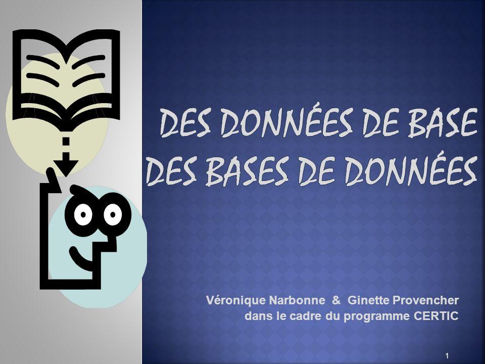 Véronique Narbonne & Ginette Provencher dans le cadre du programme CERTIC 1