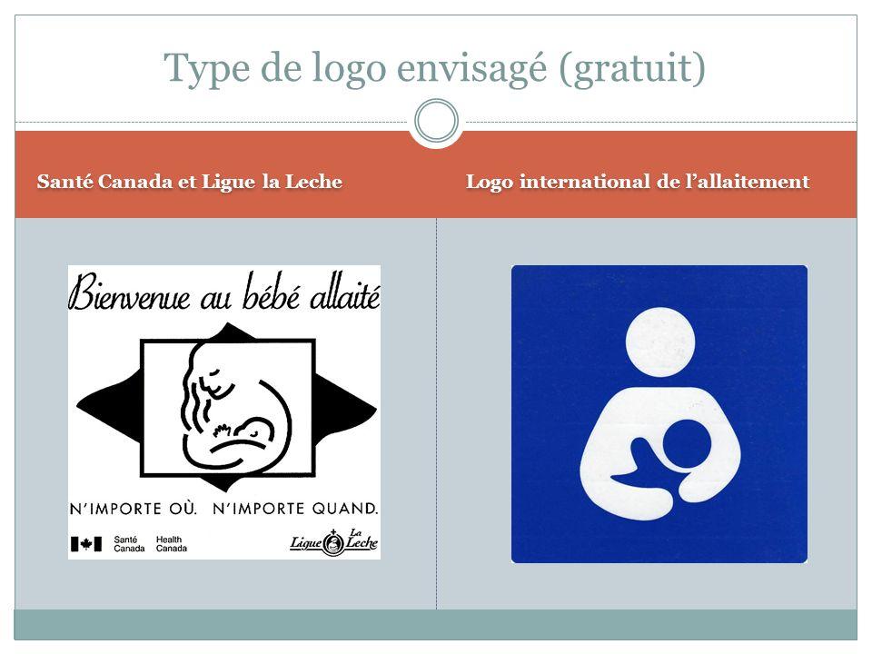 Santé Canada et Ligue la Leche Logo international de lallaitement Type de logo envisagé (gratuit)