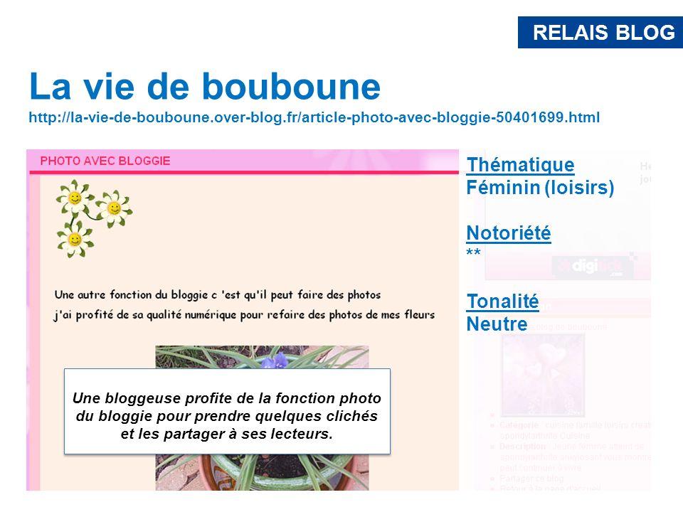 RELAIS BLOG La vie de bouboune http://la-vie-de-bouboune.over-blog.fr/article-photo-avec-bloggie-50401699.html Une bloggeuse profite de la fonction ph