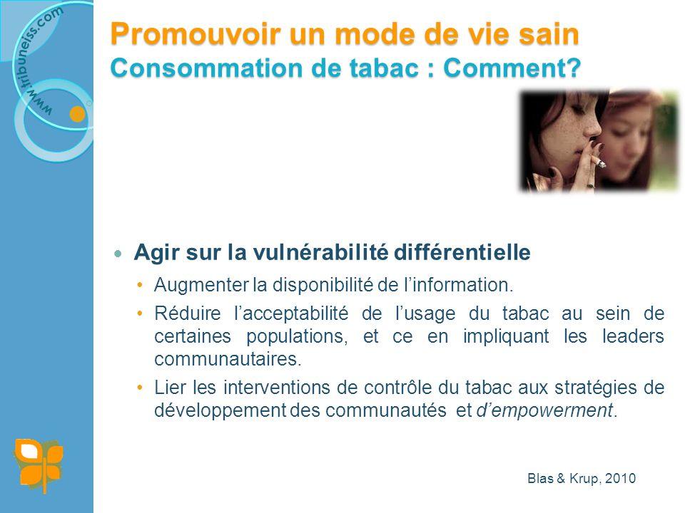 Agir sur la vulnérabilité différentielle Augmenter la disponibilité de linformation.