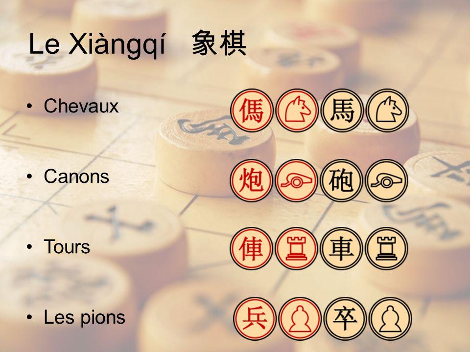 Chevaux Canons Tours Les pions Le Xiàngqí