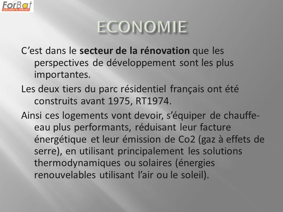 Cest dans le secteur de la rénovation que les perspectives de développement sont les plus importantes.