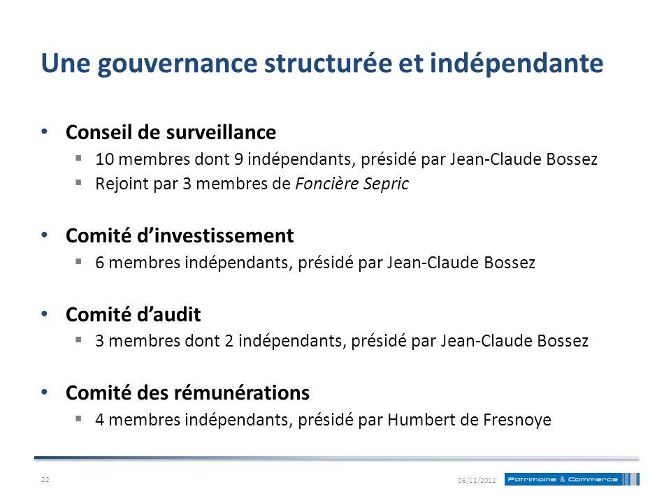 Une gouvernance structurée et indépendante Conseil de surveillance 10 membres dont 9 indépendants, présidé par Jean-Claude Bossez Rejoint par 3 membre