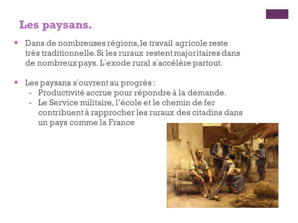 Dans de nombreuses régions, le travail agricole reste très traditionnelle. Si les ruraux restent majoritaires dans de nombreux pays. Lexode rural sacc