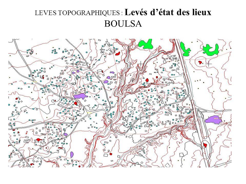 LEVES TOPOGRAPHIQUES : Levés détat des lieux BOULSA