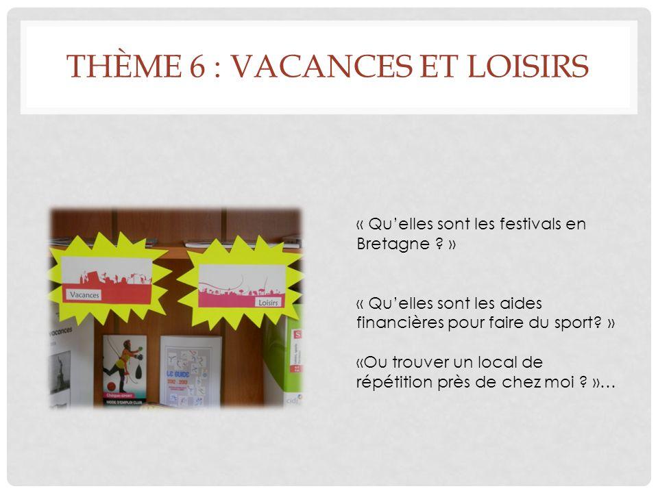 THÈME 6 : VACANCES ET LOISIRS « Quelles sont les festivals en Bretagne .