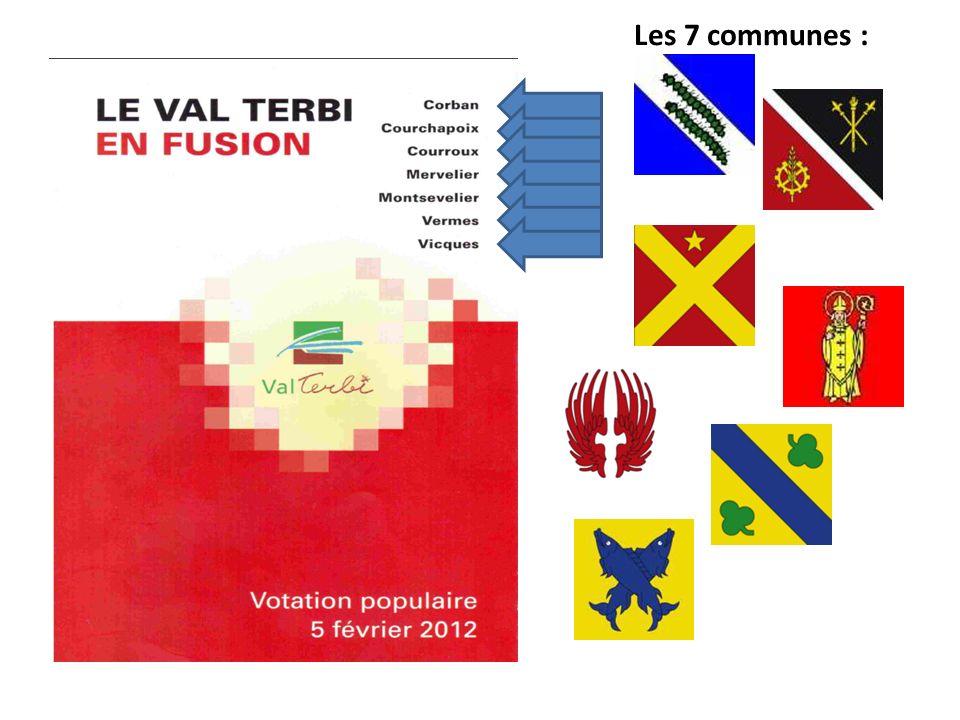 Les 7 communes :