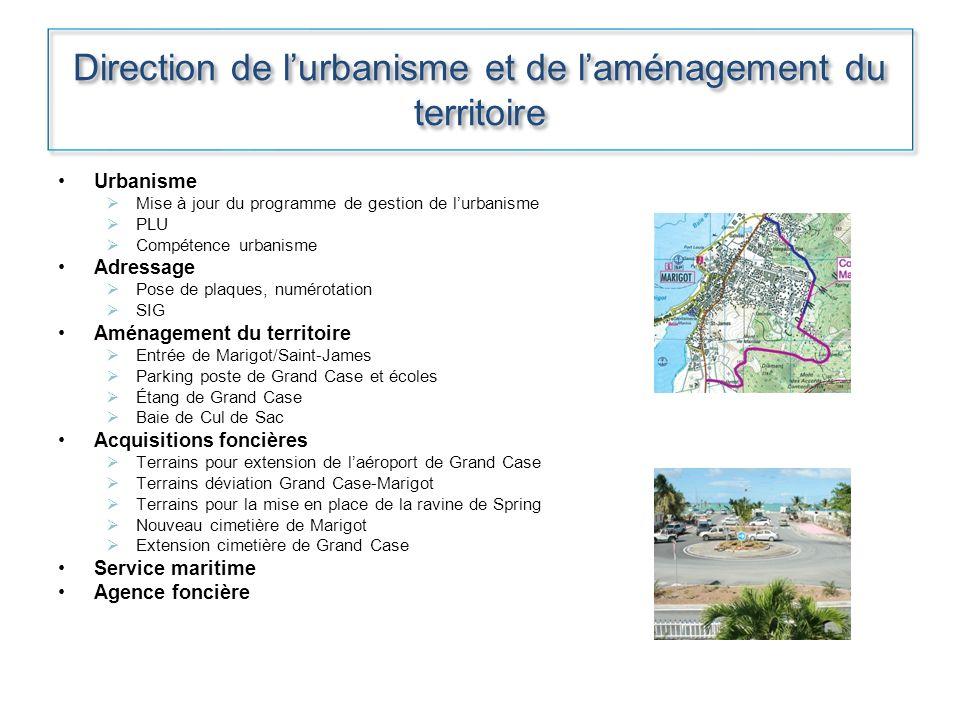 Direction de lurbanisme et de laménagement du territoire Urbanisme Mise à jour du programme de gestion de lurbanisme PLU Compétence urbanisme Adressag