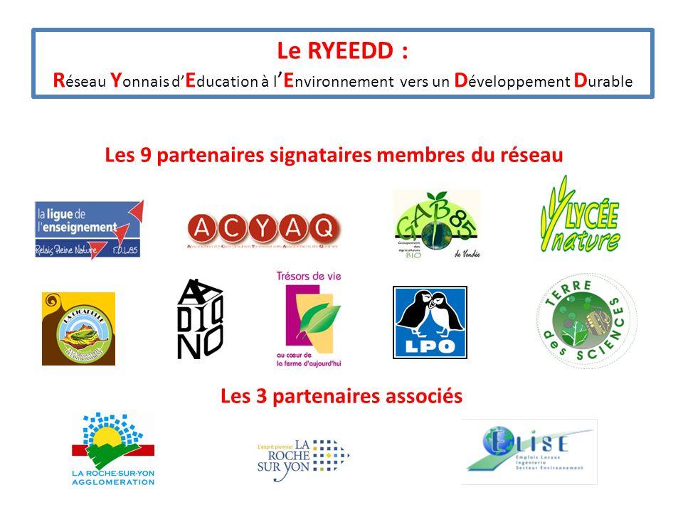 Les 3 partenaires associés Les 9 partenaires signataires membres du réseau
