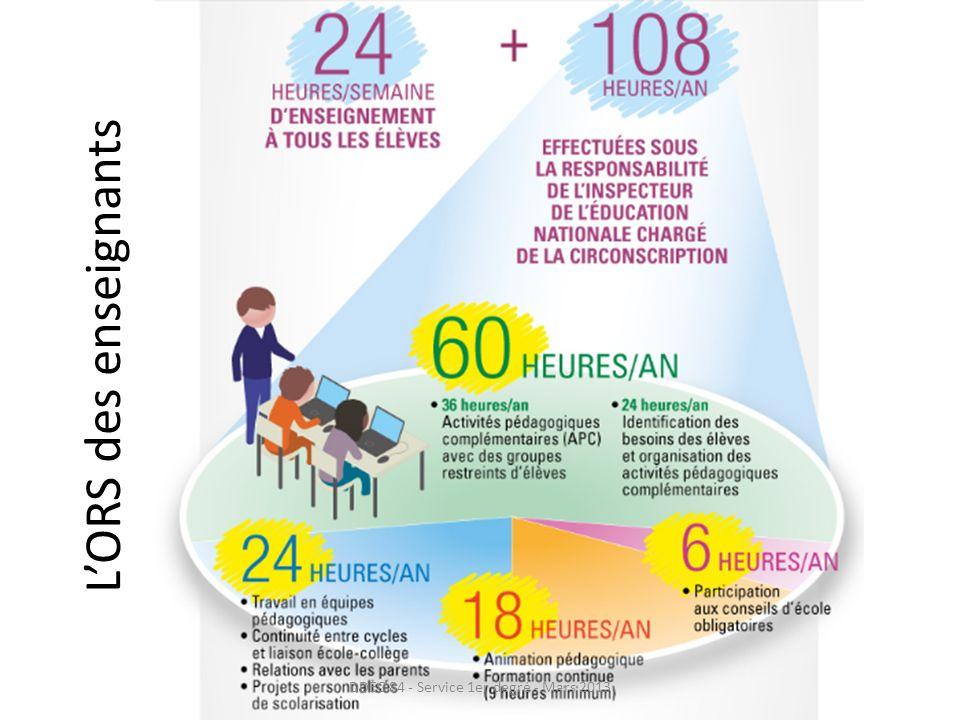 LORS des enseignants DDEC 84 - Service 1er degré - Mars 2013