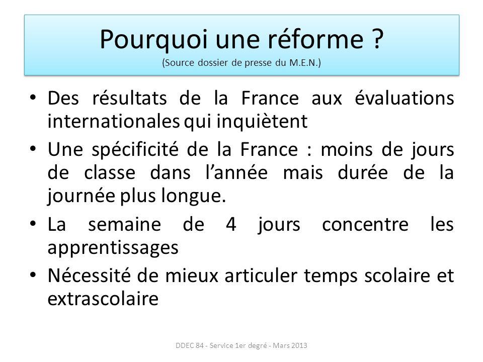 Pourquoi une réforme .