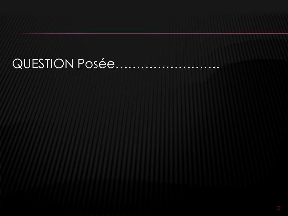 QUESTION Posée……………………. 2