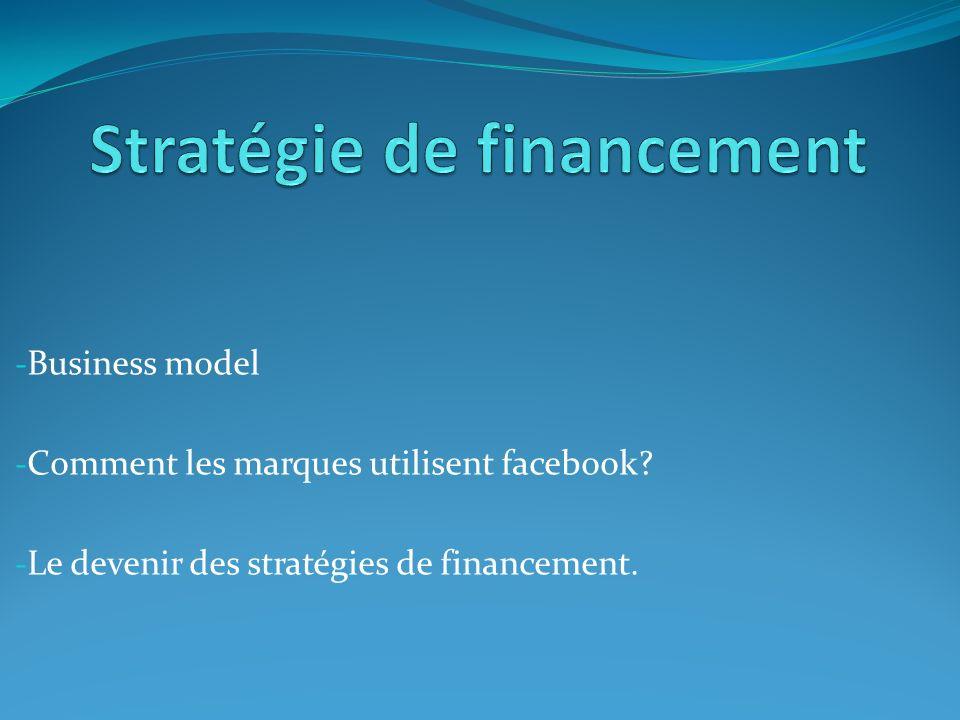 - Business model - Comment les marques utilisent facebook.