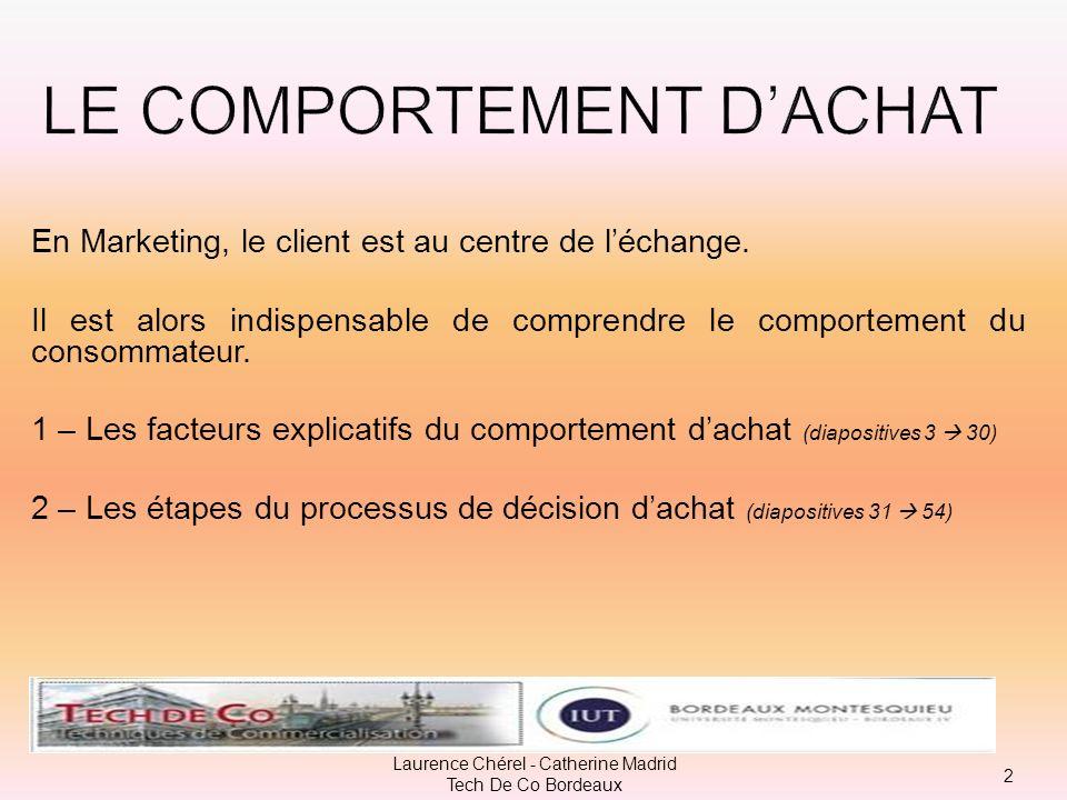 Le choix dune réponse à un besoin peut aller dune prise de décision habituelle à une résolution étendue de problème … 32 Laurence Chérel - Catherine Madrid Tech De Co Bordeaux