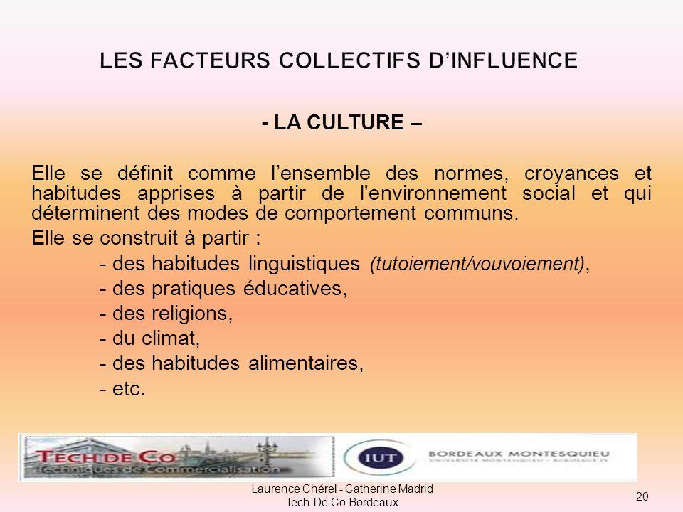 B – Les facteurs collectifs dinfluence : Le consommateur évolue au sein dun environnement social qui influence son comportement dachat. Ainsi, seule s