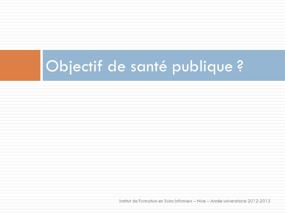 Objectif de santé publique .