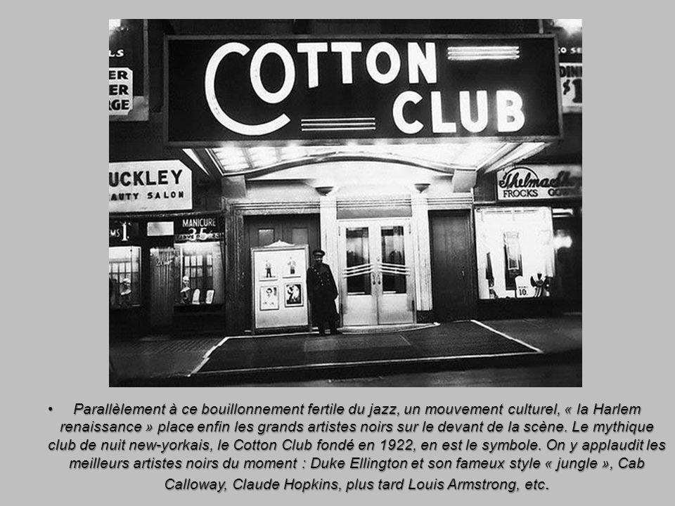 Parallèlement à ce bouillonnement fertile du jazz, un mouvement culturel, « la Harlem renaissance » place enfin les grands artistes noirs sur le devan
