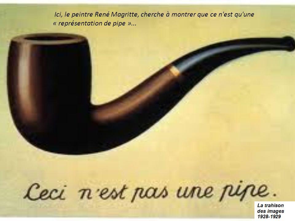 Ici, le peintre René Magritte, cherche à montrer que ce n'est qu'une « représentation de pipe »...