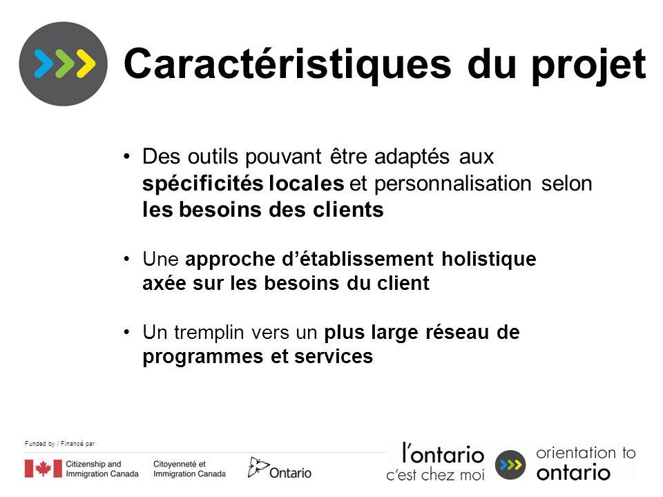 Funded by / Financé par Des outils pouvant être adaptés aux spécificités locales et personnalisation selon les besoins des clients Une approche détabl