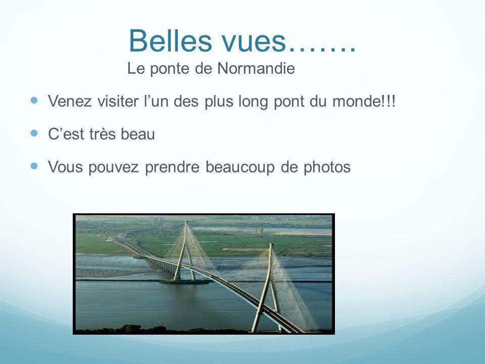 Belles vues……. Le ponte de Normandie Venez visiter lun des plus long pont du monde!!.
