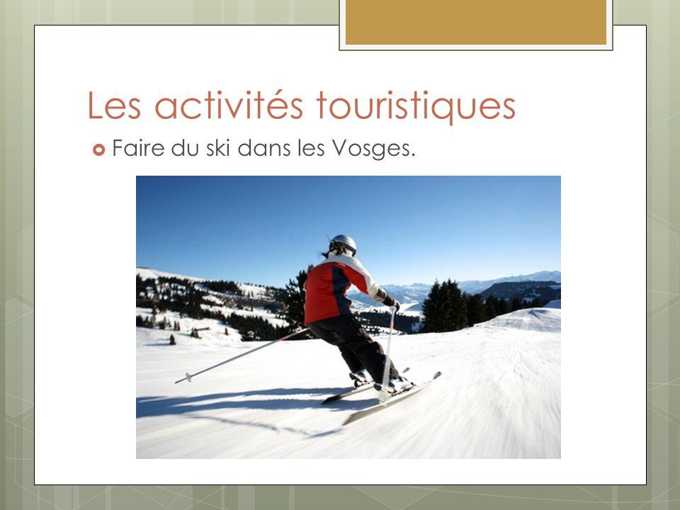 Les activités touristiques Faire du ski dans les Vosges.