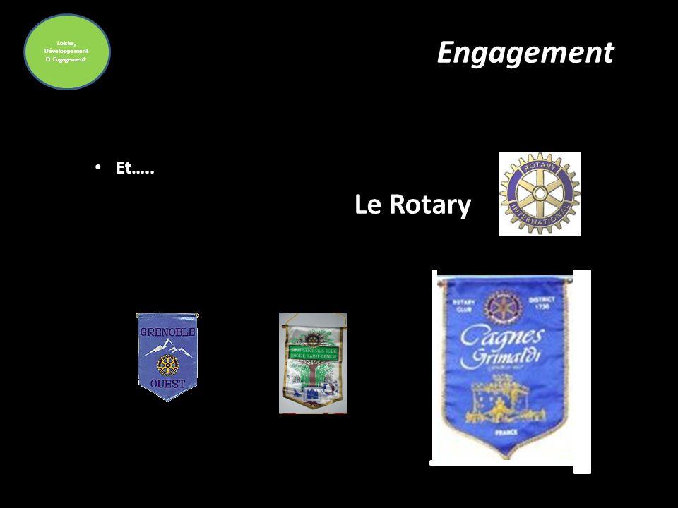 Loisirs, Développement Et Engagemen t Engagement Et….. Le Rotary