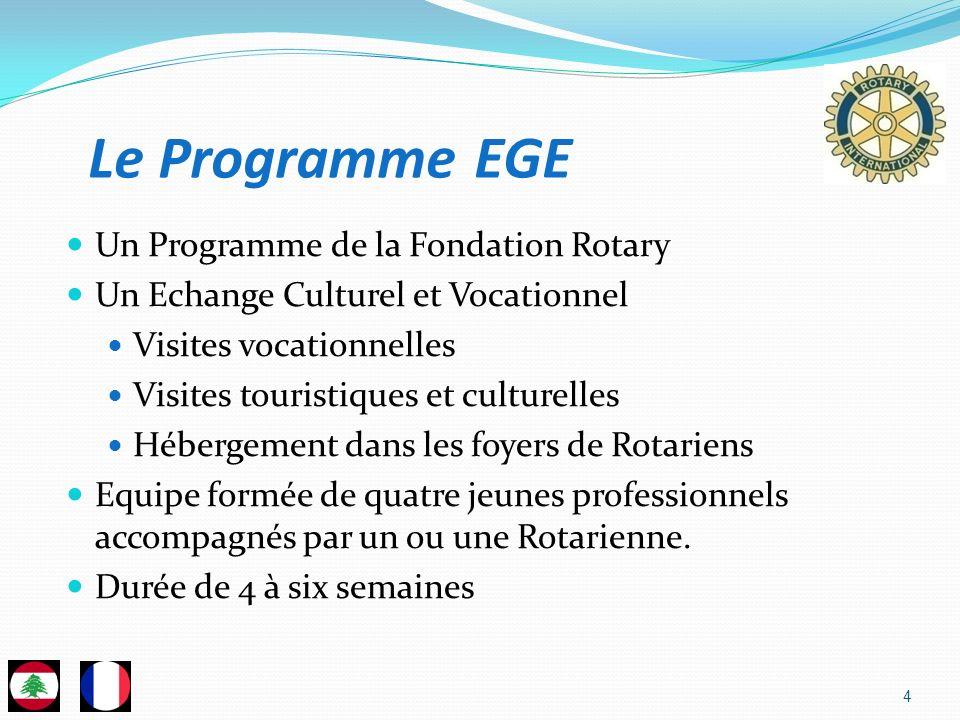 4 Un Programme de la Fondation Rotary Un Echange Culturel et Vocationnel Visites vocationnelles Visites touristiques et culturelles Hébergement dans l