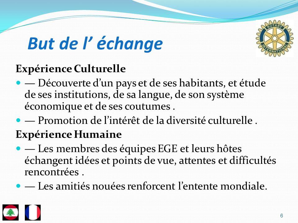 6 Expérience Culturelle Découverte dun pays et de ses habitants, et étude de ses institutions, de sa langue, de son système économique et de ses coutu