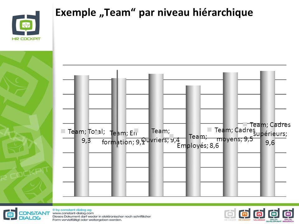 Exemple Team par niveau hiérarchique