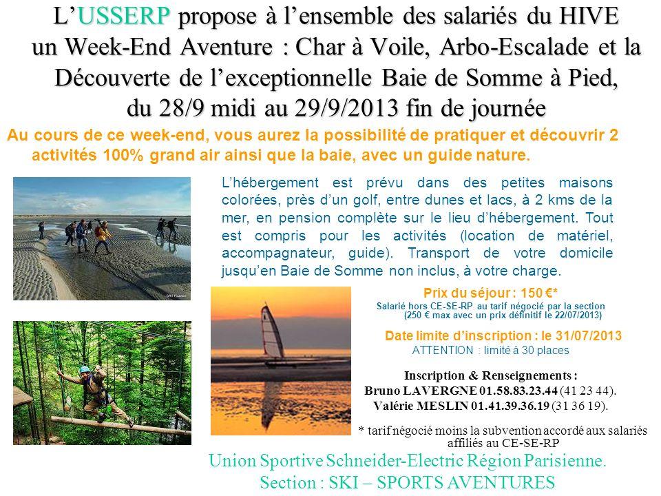 LUSSERP propose à lensemble des salariés du HIVE un Week-End Aventure : Char à Voile, Arbo-Escalade et la Découverte de lexceptionnelle Baie de Somme