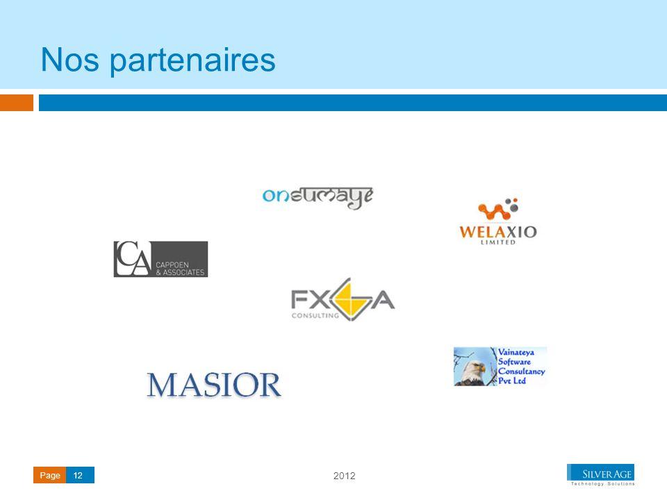 2012 Page12 Nos partenaires