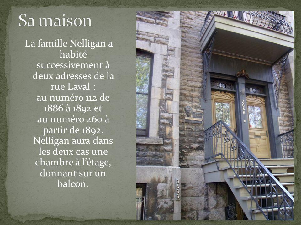 Il passe une enfance aisée, entre la maison de Montréal et la résidence d'été des Nelligan à Cacouna au Québec. Il s'absente souvent de l'école et sa