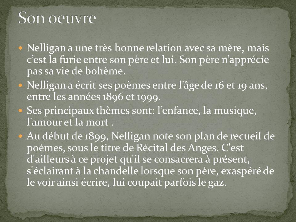 Émile Nelligan était un bien piètre élève.