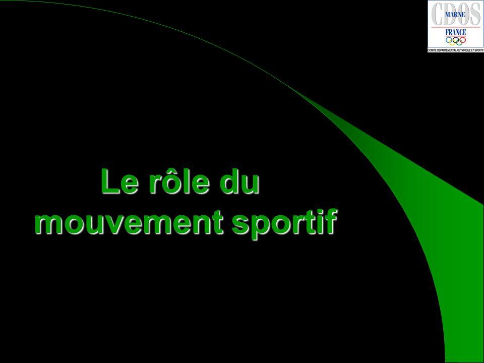 Le rôle du mouvement sportif