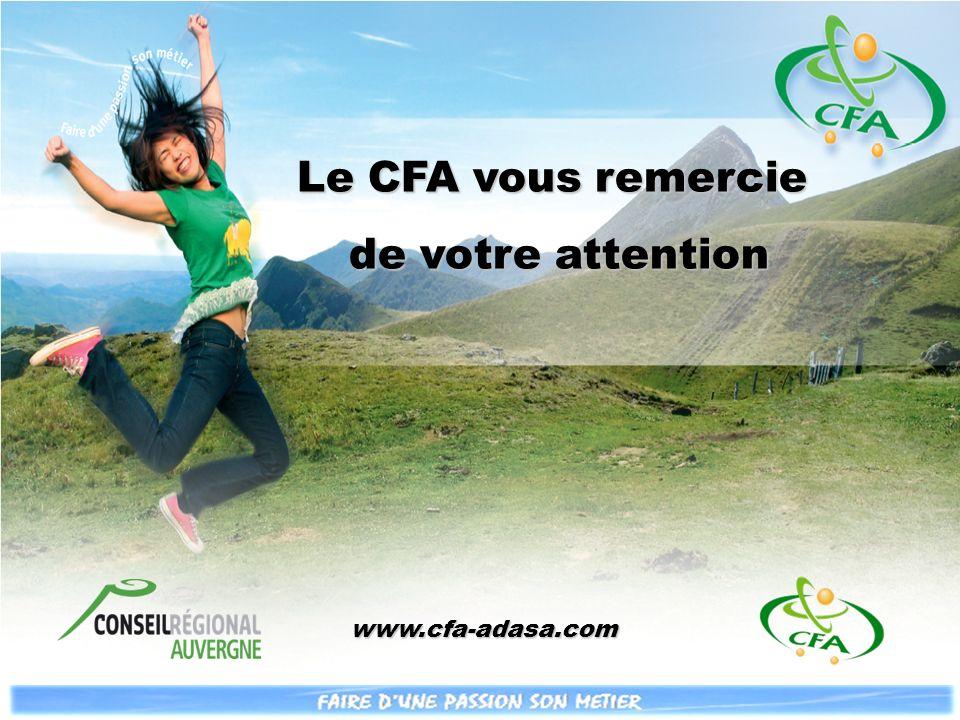 Le CFA vous remercie de votre attention www.cfa-adasa.com www.cfa-adasa.com