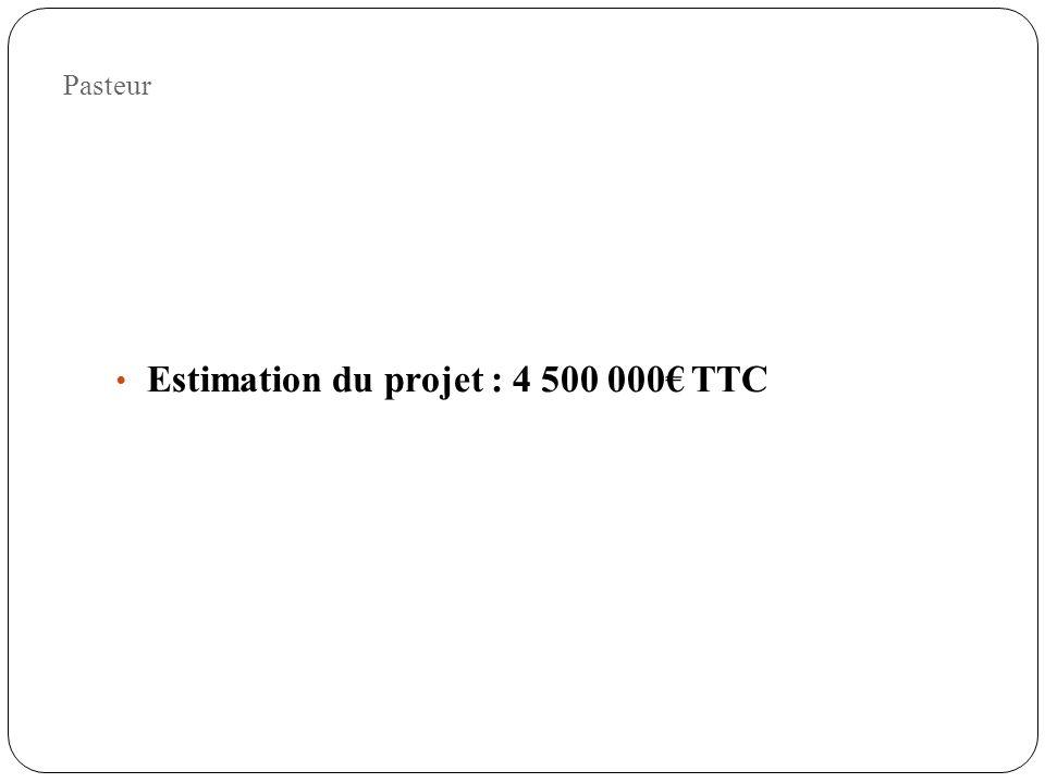 Pasteur Estimation du projet : 4 500 000 TTC