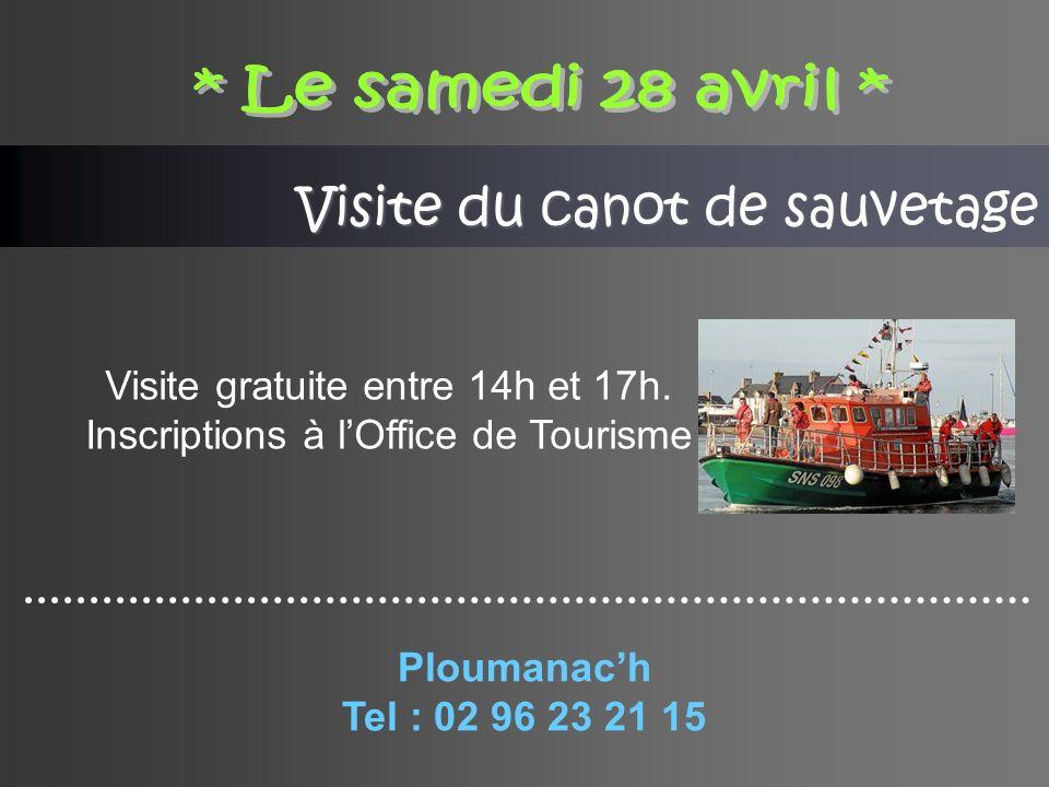 Visite du canot de sauvetage Visite gratuite entre 14h et 17h.